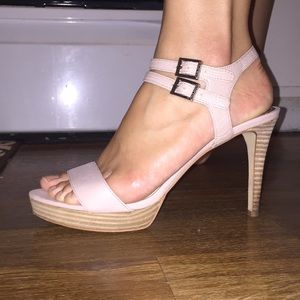 Vince Camuto Dusty Rose Strap Heels